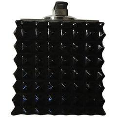 Italian Design Faceted Black Crystal Modern Style CigarTable Lighter