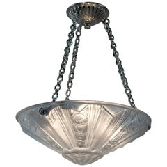 French Art Deco Chandelier, Pendant Light