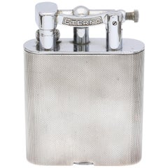 Large Midcentury Sterling Silver Table Lighter
