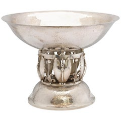 Art Deco Style Sterling Silver Centerpiece Bowl in the Jensen Style by Gorham