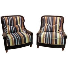 Pair of Baker Wingback Chairs