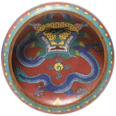 Chinese Cloisonne 'Imperial Dragon' Bowl
