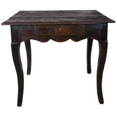 18th Century French Provincial Style Table with Drawer