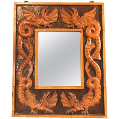 Vintage Dragon Mirror from the Midcentury