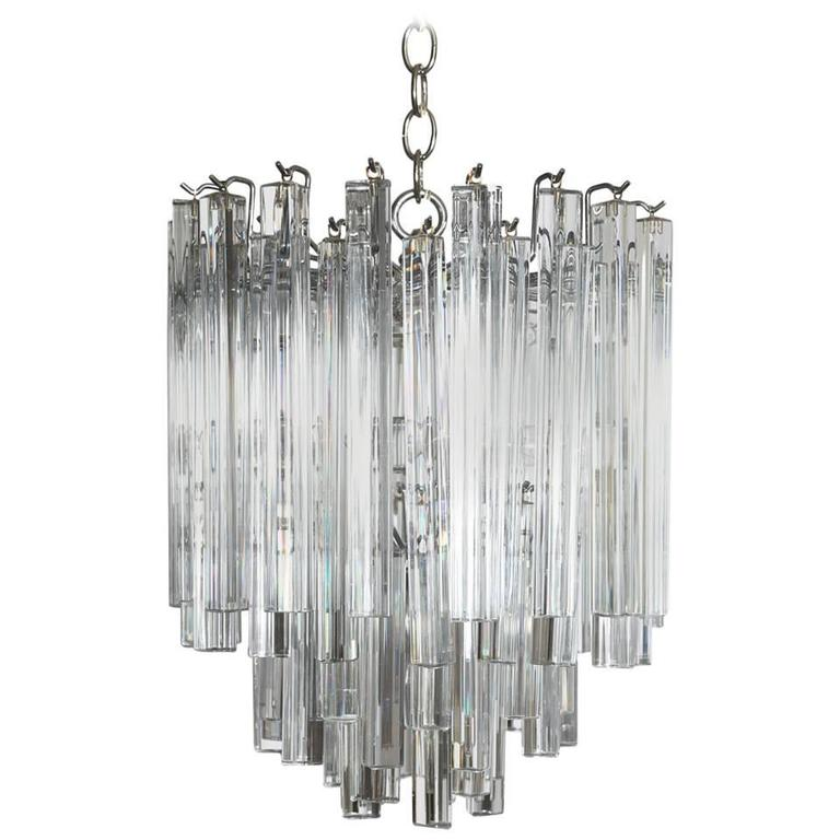 Tiered Murano Glass Chandelier by Camer, Circa 1970