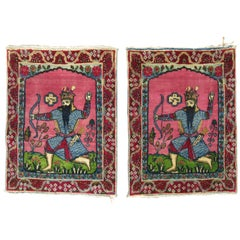 Pair of Pictorial Persian Rugs