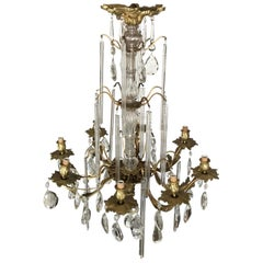 Louis XV Style Bronze and Crystal Chandelier