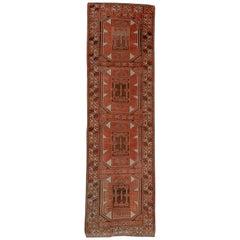 Geometric Antique Oushak Runner