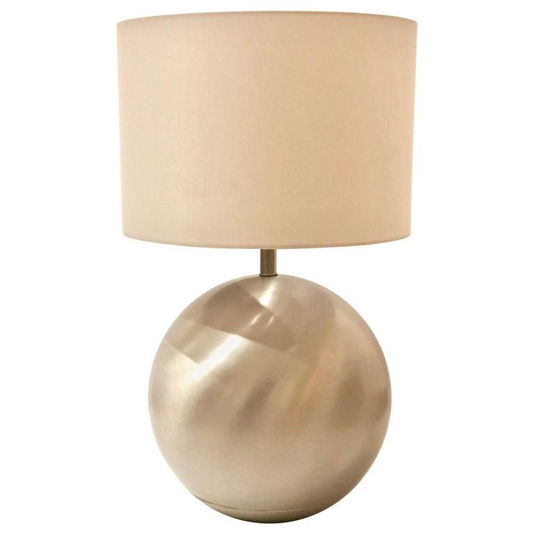 Russel Wright for Raymor Spun Aluminum Large Table Lamp