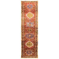 Magnificent Antique Persian Heriz Runner, circa 1920s