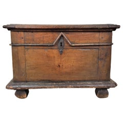 Late 17th Century Small Fruitwood Chest