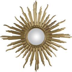 Italian Giltwood Sunburst Mirror