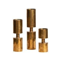 Thelma Zoéga Candelsticks in Brass Produced in Sweden