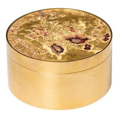 Pierre Forsell Box with Coasters in Brass by Skultuna in Sweden