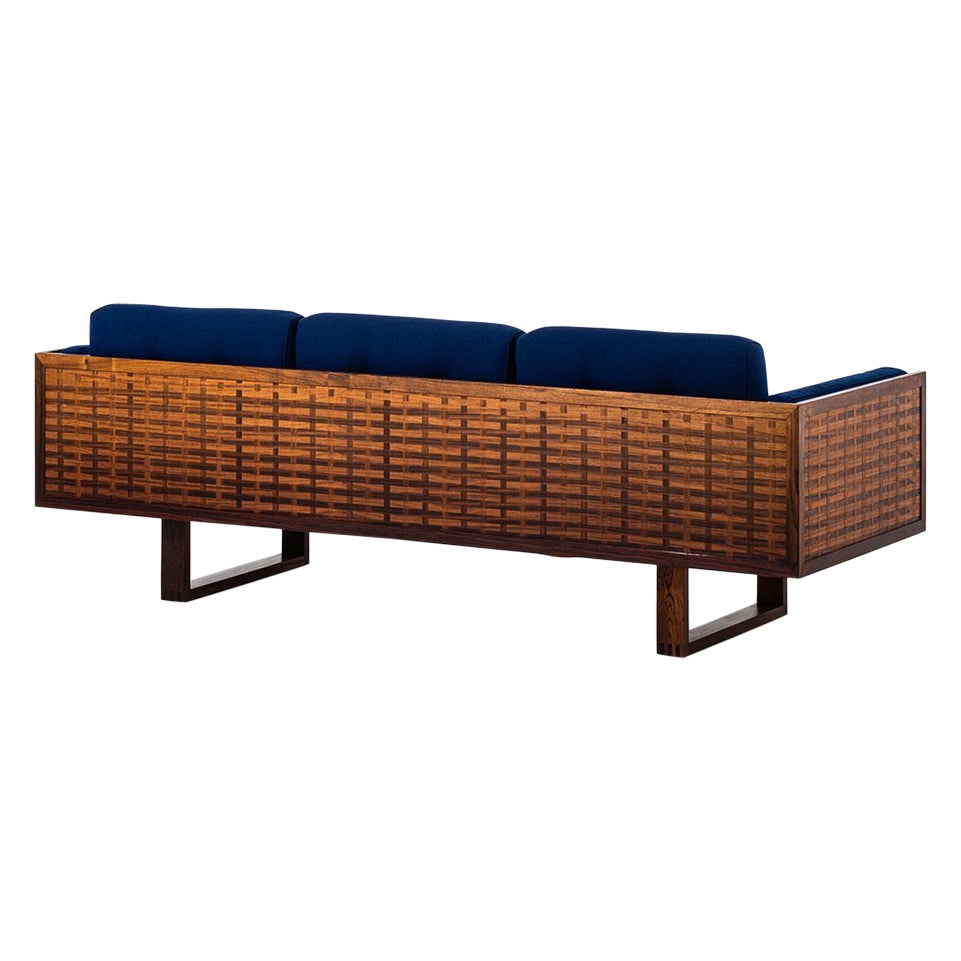 Poul Cadovius Sofa in Rosewood Produced by France & Son in Denmark