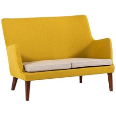 Arne Vodder Loveseat Sofa by Ivan Schlechter in Denmark