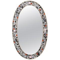 Mirror of Glass Mosaic by Verenigte Werkstatte,1960s, Germany