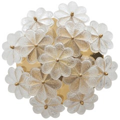 Ernst Palme Floral Blossom Flush Mount, Sconces, Wall Lamps, 1970s