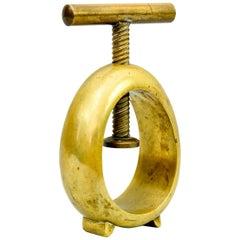 Carl Auböck Midcentury Brass Nut Cracker, Austria, 1950s Signatured