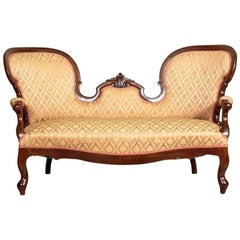 Walnut Sofa, circa 1880