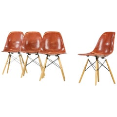 Set of Four Eames DSW for Modernica, Dining Chairs