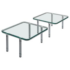 Horst Brüning Chrome and Glass Cocktail Table for Kill International