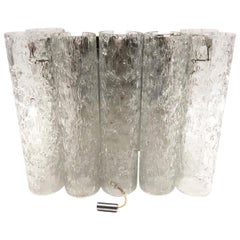 Chic Petite 1960s German Doria Leuchten Glass Tubes Sconce