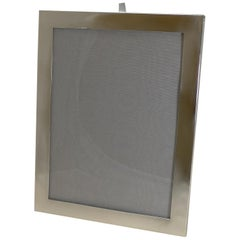 Very Large English Art Deco Sterling Silver Photograph Frame by Mappin and Webb