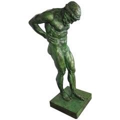 20th Century Large Bronze Statue of Atlas