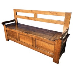 19th Century Elm and Walnut Bench