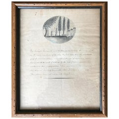 19th Century Bucolic Engraving and Calligraphy