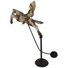 Kinetic Sculpture Native American Indian Chief Riding Horse