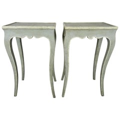 Pair of French Louis XV Style Painted Side Tables