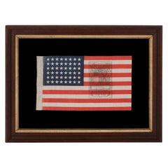 48 Star American Parade Flag with a Rare Gettysburg Two Color Overprint