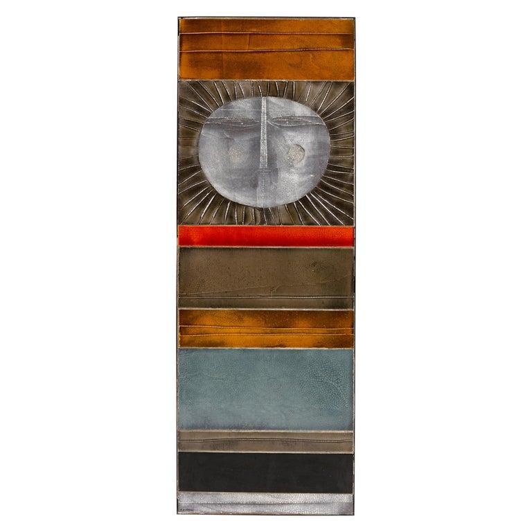"Roger Capron ""Glazed Lava"" Ceramic Tile Panel, France 1960s For Sale"