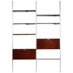 George Nelson Wall Unit or Bookcase in Rosewood for Mobilier International