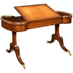 Rare Regency Fiddleback Mahogany Writing Table Gillows