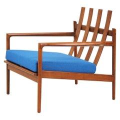 Ib Kofod-Larsen Walnut Lounge Chair for Selig