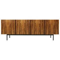 Rare 1960s Minimalist Sideboard on Metal Base, Drawers Inside Mid-Century Modern