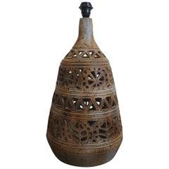 Monumental Ceramic Floor or Table Lamp, France, 1960s