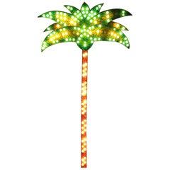 1980s Genuine Palm Tree Fairground Light