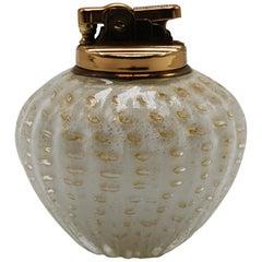 Murano Glass Lighter with Gold Flecks, circa 1960