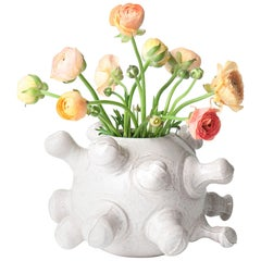 J Schatz Studio 2018 Vase with 16 Formations, Organic Modern Stoneware, in Stock