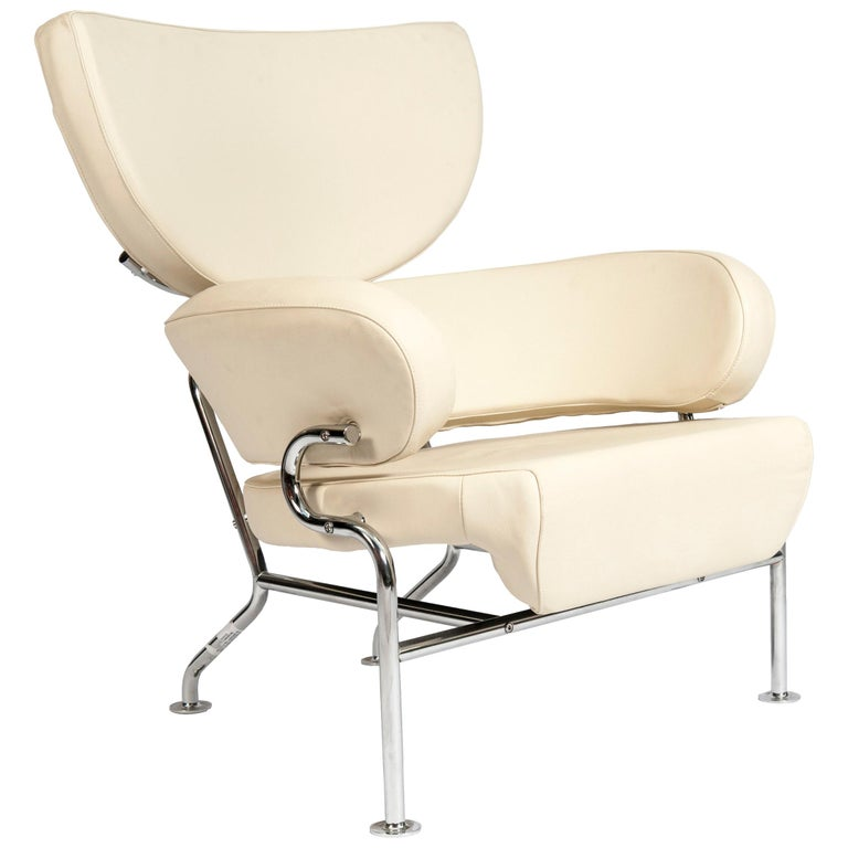 Pair of Leather Armchairs by Franco Albini