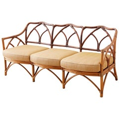 McGuire Midcentury Organic Bamboo Rattan Sofa