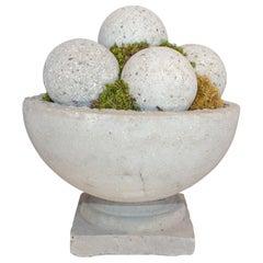 Hand Cast Hypertufa Centerpiece with Preserved Moss & Hypertufa Spheres