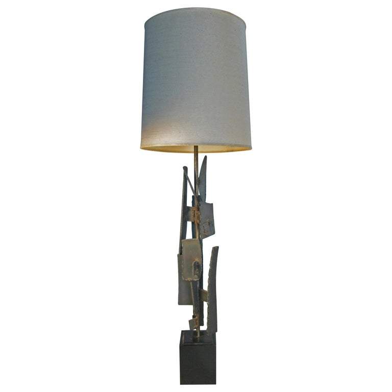 Iron and Steel 1960s Table Lamp by Harry Balmer For Sale