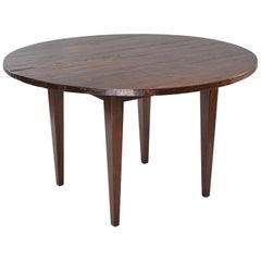 19th Century Round Chestnut Farm Table