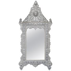 Superb 19th Century Large Syrian Mirror with Mother of Pearl