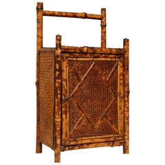 Rare 19th Century English Bamboo Cabinet